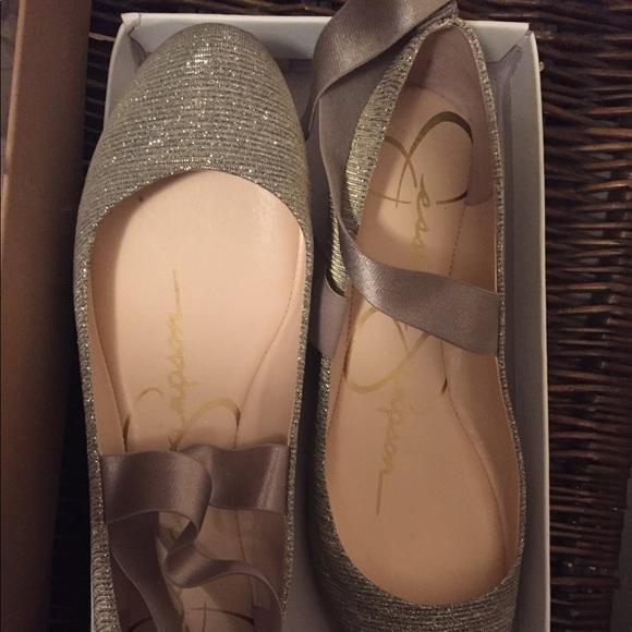 8fd139255ee0 Jessica Simpson Shoes - Jessica Simpson Glitter Gabor Ballerina Shoes